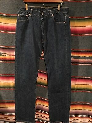 Vintage Levis 501 Mens Jeans USA Made Tag 38x33 -Actual 36x34 Dark Blue