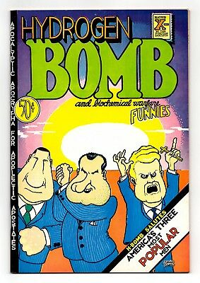 Hydrogen Bomb Funnies - 2nd Printing 1970 / Crumb, Irons, Stack, More! / FN+ 6.5