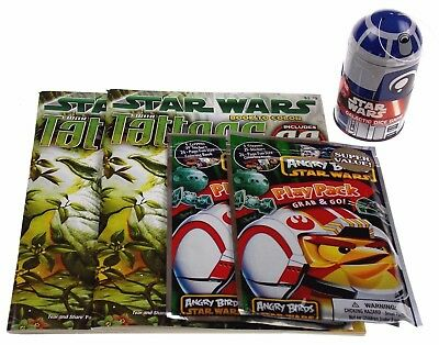Star Wars Fun Pack Lot 5 Dice Galactic Game Play Pack Angry Birds Coloring Book