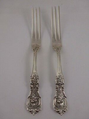 "RARE ANTIQUE REED & BARTON STERLING SILVER ""FRANCIS I"" 2-STRAWBERRY FORKS c1907"