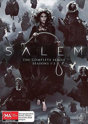 SALEM 1-3 (2014-2017) COMPLETE COLLECTION Witches TV Season Series NEW Au R4 DVD