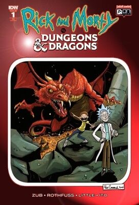 Rick And Morty vs Dungeons & Dragons 1 RED CHROMIUM FOIL VARIANT ltd 700