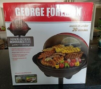 "George Foreman GFO240GM 240"" 15+ Serving Indoor/Outdoor Grill, New in box"