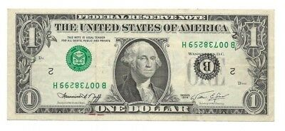 ERROR NOTE, $1 FRN 1974, INVERTED 3rd PRINTING, NY District, Fr. 1908B, VF-XF.