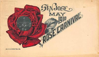 San Jose, CA May 1910 ROSE CARNIVAL Electric Tower Antique Vintage Postcard