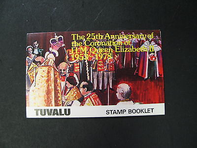 Tuvalu Scott MNH 81,82,83, and 84  Booklet of 2 each 25th annaversary of QE II