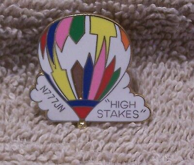 High Stakes N777Jn Balloon Pin