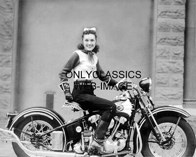 1937 Woman Stunt Motorcycle Pioneer Dot Smith Harley Davidson Knucklehead Photo