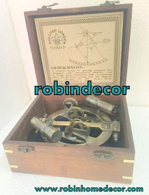 Vintage Sextant Solid Brass Astrolabe Nautical Marine Sextant