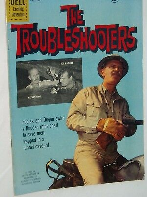 THE TROUBLESHOOTERS  comic...(USA....DELL).....1960....VG....