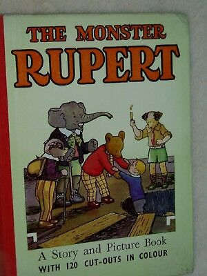 THE MONSTER RUPERT. ANNUAL.......1953...MARY TOURTEL...Cut Outs inside