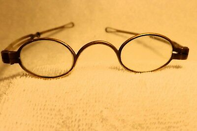 Pre-Civil War:  Early Brass Glasses (From England) With Extension Temples!!