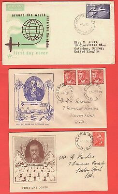 Australia - Six Early First Day Covers - Mixed Dates