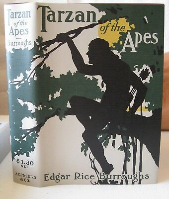 1914 Tarzan Of The Apes Burroughs 1St Edition Facsimile Like New With Slipcase