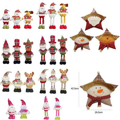 Santa Claus Merry Christmas Snowman Telescopic Doll Xmas Toy Ornament Decor Hot