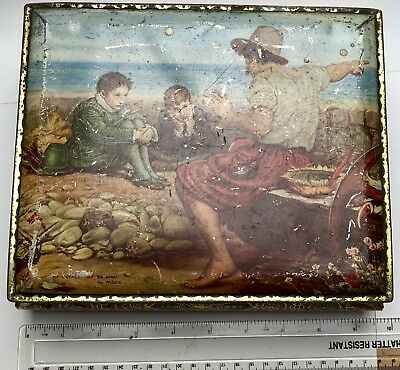 Vintage Tin - Millais Painting - Heavy Hinged Lid