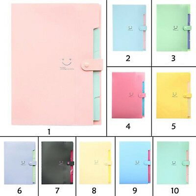 A4 5pocket Expanding File Folders Document Organizer For School Office Supplies