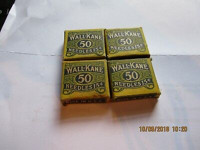 4 unopened full Gramophone Phonograph  needle boxes