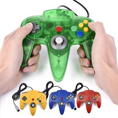 For N64 Controller Joystick Console Games Long Wired Controller Gamepad Joypad