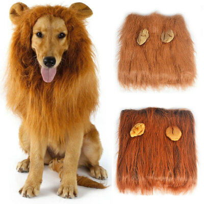 New Pet Dog Costume Lion Mane Wig Hair For Dog Halloween Clothes Fancy Dress Up