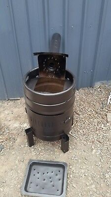Pot belly stoves/heater wood burn bbq outdoor fire place painted professionally