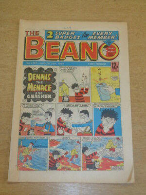 Beano #2197 25Th August 1984 British Weekly Dennis The Menace Dc Thomson Comic^