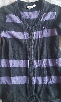pull gilet Roxy 14 ans Xs violet gris