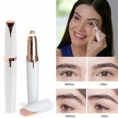 Electric Finishing Touch Painless Brows Hair Remover Face Eyebrow LED Light IT