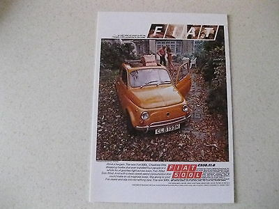Fiat 500 L Postcard Of An Original Advert From 1972