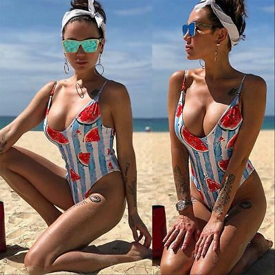 Sexy Ladies Bikini Swimwear One-Piece Push Up Bandage Swimsuit Bathing Size S-XL