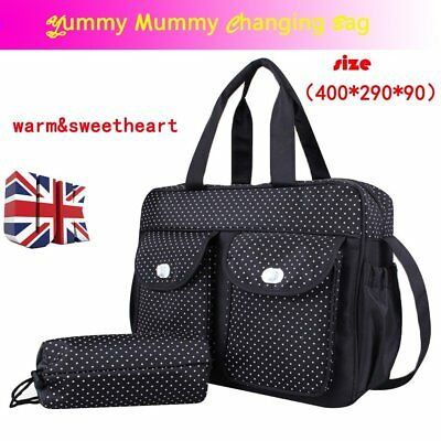 Baby Diaper Mummy Changing Handbag Shoulder Bag with Bottle Holder Travel