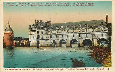 Cp Chenonceaux Chateau Facade Occidentale 17533
