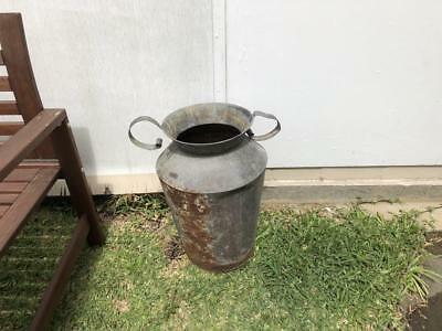 Large Modern Shabby Chic style metal urn rustic outdoor planter pot