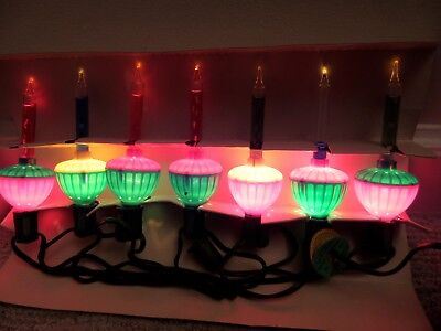 vintage set of 7 noma bubble christmas lights lites wbox