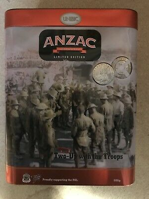 Anzac Limited Edition Biscuit Tin Two UP With the Troops