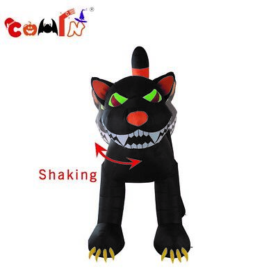 11ft Halloween Airblown Inflatable Fury Black Cat Outdoor Yard Decorations