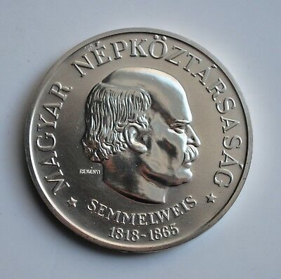 "Hungary 100 forint 1968, UNC, ""150th Anniversary - Birth of Ignaz Semmelweis"""