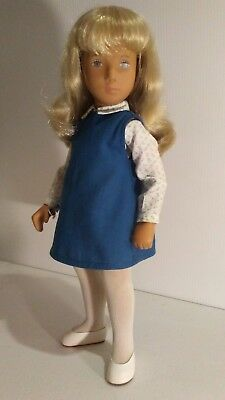 Vintage 115s Sasha Doll Blonde Hair,Blue Eyes,Box And Tag,Made In England