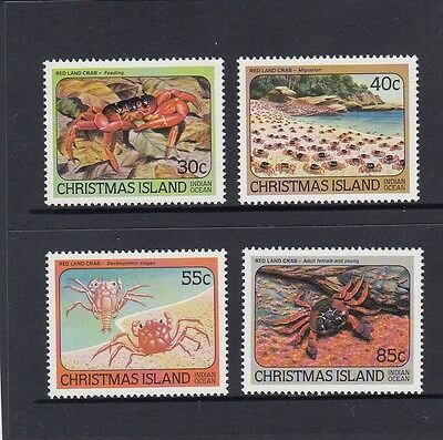 CHRISTMAS Island 1984 Red CRABS Marine Life  Set of 4 MNH