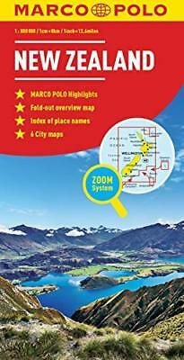New Zealand Marco Polo Map by Marco Polo New Paperback / softback Book