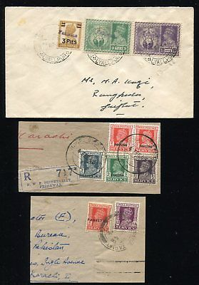 (OC261) India 1x cover + 2x part of front ovpt. Pakistan
