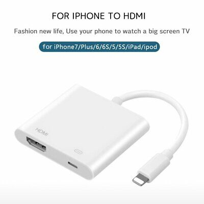 Lightning To HDMI Digital AV TV Cable Adapter For iPad iPhone Xs Max Xr X 6 7 8+