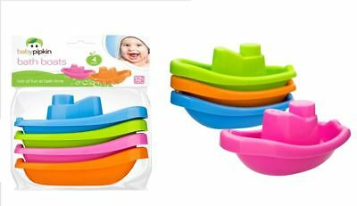 New 4 Pack Baby Kids Infant Bath Tub Play Time Floating Plastic Boats Toys