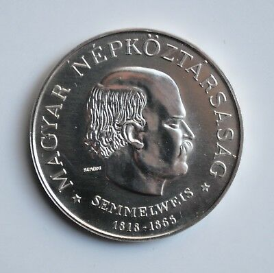 "Hungary 50 forint 1968, UNC, ""150th Anniversary - Birth of Ignaz Semmelweis"""