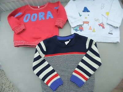 3 baby boys jumpers age 9 -12 months marks and spencer, debenhams, boots