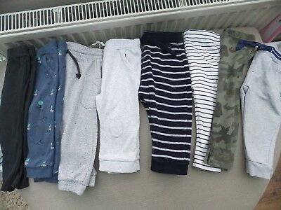 Bundle of baby boys leggings / trousers age 9 - 12 months 8 pairs next, H&M etc