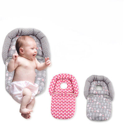 Newborn Infant Baby Pillow Folding For Baby Cart Neck Head Cushion Protection 8C
