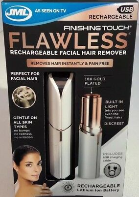 JML Flawless Finishing Touch Rechargeable Facial Hair Remover Pain Free GENUINE