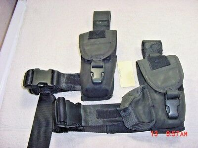 S.o.tech Thigh Mount Duty Holster (2) Compatible With M26 + X26 Taser
