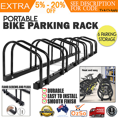 1 ¨C 6 Bike Floor Parking Rack Instant Storage Stand Bicycle Cycling Portable